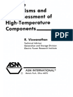 Life Assessment of High Temperature Component