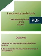 Instrumentos en Geriatria