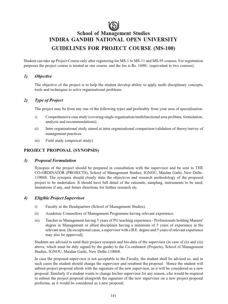 project related guidelines prospectus 09 science business rh es scribd com