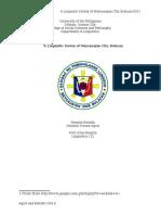 Linguistic Survey of Meycauayan-Final