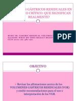 VOLUMENES GÁSTRICOS RESIDUALES EN EL ENFERMO CRÍTICO