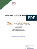 Improving Schedule Management