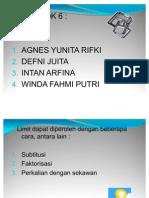 Kelompok 6-Limit Fungsi Faktorisasi
