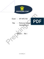 Prepking HP0-729 Exam Questions