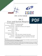 Mesh Wp6 D6.3 20061116 User Requirements v4b
