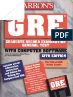 Barron's GRE[1].12th.ed.(Barrons)(669s)(1997)