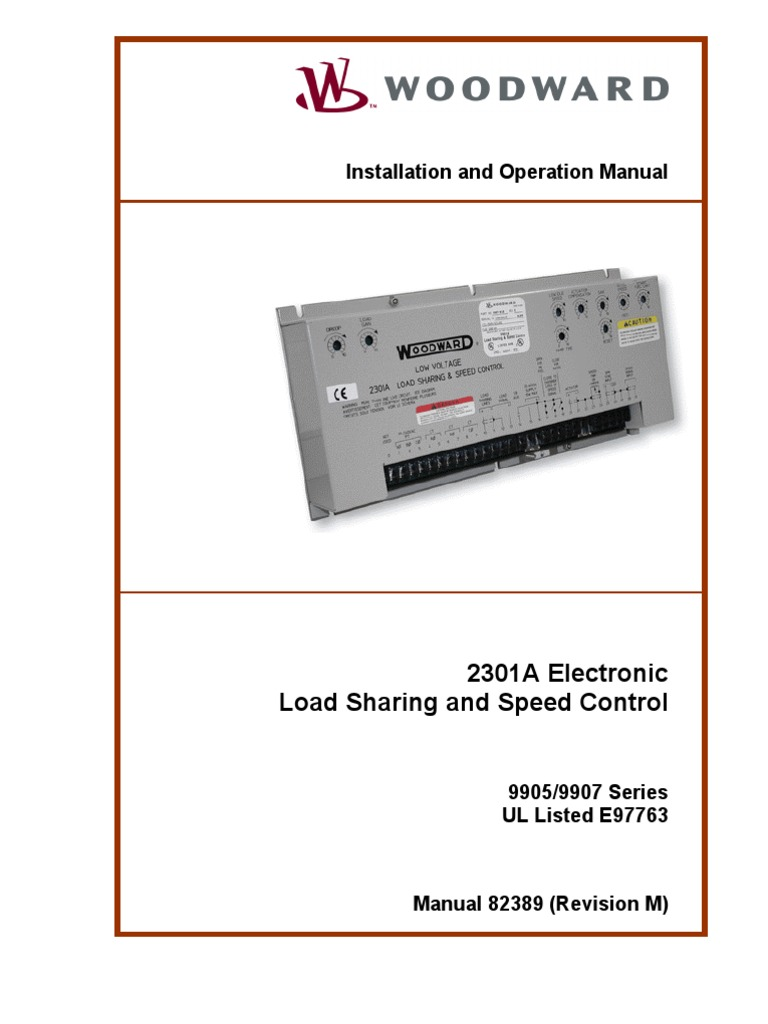 woodward 2301a 9905 9907 series technical manual cable rh scribd com Woodward 2301A Speed Control Part woodward 2301a load sharing speed control manual