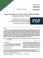 Desal Methods- Case Study for Kuwait