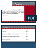 """Corporate Law Cell Newsletter """"PocketCorp"""" Volume 1 Issue 1 2011"""