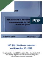 ISO 9001 2008 Standard Updates