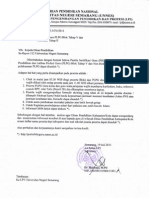 Surat Pemberitahuan Tahap V