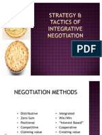 (Chap 3) Strategy & Tactics of Integrative Negotiation