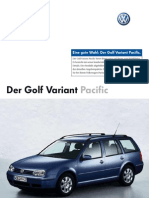 Der Golf IV Variant Pacific Prospekt (German)