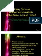 Primary Synovial Osteochondromatosis