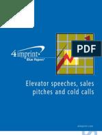Elevator Pitch Blue Paper