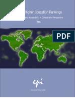 Global Higher Education Rankings 2005