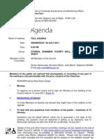 July Full Council Agenda