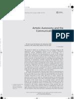 Artistic Autonomy Etc Brian Holmes