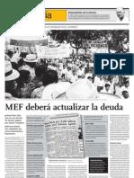 MEF Debe Actualizar La Deuda