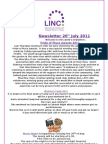 Newsletter 20th July 2011