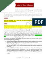 integrity banc solutions product sales script 071911 art