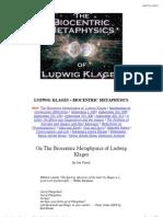 Ludwig Klages_ Biocentric Metaphysics