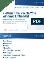 BuildingThinClientswithWindowsEmbedded-Hwacinski-Kulkarni