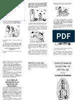 Folleto Virgen de Guadalupe
