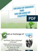Vat on Sale of Services