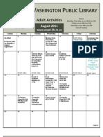 August 2011 Calendar