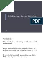sterilisation oxyde d'ethylŠne