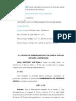 Escrito instando nombramiento de defensor judicial y autorización de venta de bienes de menores