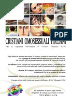 Cartolina informativa su gruppi di cristiani omosessuali italiani (2010)