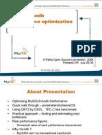 OSCON2004 MySQL Innodb Performance Optimization