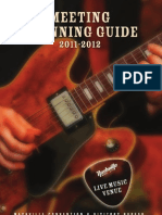Nashville Meeting Planning Guide 2011-2012