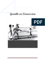 Gandhiji on Conversion