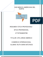 7. Resumen Etica Profesional 23-26 Mayo
