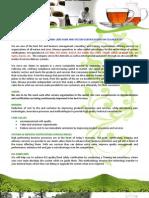 Flyer - Tea Industry - English
