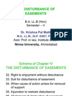 6[1].4 the Disturbance of Easements