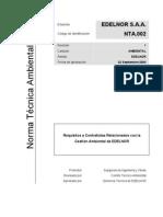 tec_sga_nta002 Requisitos a contratistas relacionados con la Getsión ambiental de EDelnor
