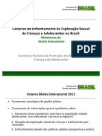 Matriz Intersetorial 2011