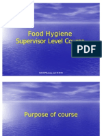 Food Hygiene Supervisor Level Course