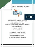 Desarrollo de Tema Guia Egel Proceso Despacho Aduanal