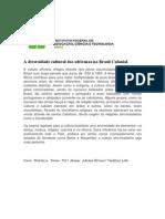 A Diversidade Cultural Dos Africanos No Brasil Colonial