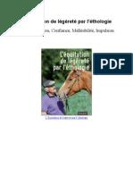 L'équitation de légèreté par l'éthologie - Sommaire