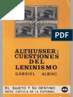Albiac, Gabriel - Althusser Cues Ti Ones Del Leninismo