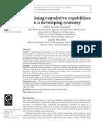 Examining Cumulative Capability Theory Ghana