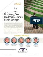 A Methodical Approach to Deepening Your Leadership Team's Bench Strength