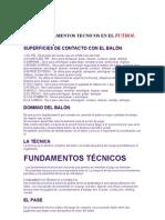 Fundamentos Tecnicos en El Futbol