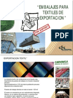 embalaje textil exportacion